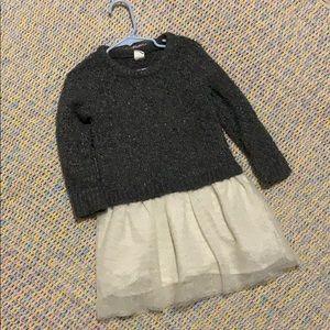 Gray Sparkle Gap Dress 3t